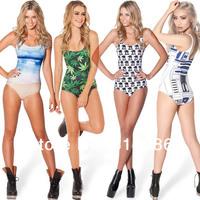 NEW 2014 HOT SEXY Black Milk Green Leaf Print One Piece Summer Beach Swimsuits Women`s Lingerie Swimwear Sport Underwear