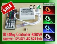 Hot Sale! LED RGB 110V 220V 44Key IR Remote Controller 600W  For SMD 5050 3528 strip tape Lights Free Shipping 4pcs/lot