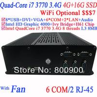 mini itx desktop pc pc stations with Intel i7-3770 3.4Ghz 3.9Ghz Turbo LGA 1155 77W Quad-Core Desktop Processor 4G RAM 16G SSD