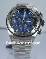 Festina Men's Chronograph Navy Blue Dial Date Bike Tour de France 100M Steel Bracelet Date Watch F16658/6