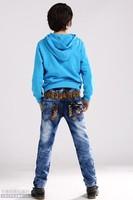 Angel of auspicious Child Jeans Male Big Boy Pants Pants, Children's Clothing Han Edition 2014 Spring Cowboy Casual Pants