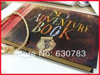 free shipping VISAD 19x29.5x2.5cm Photo album (My adventure book) pixar up film adventure book Loose-leaf Photo Album