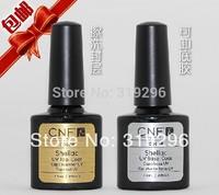 shellac Free Shipping 1set 7.3ml Soak-Off Nails UV Gel Polish Base Coat & Top Coat soak off gel nail polish