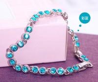 free shipping 2014 new turquoise Crystal CZ diamond bracelets & bangles bracelets for women fashion bracelets woman jewelry