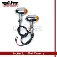 BJ-SL-027  Chrome Plated 2 pcs 12 V  Motorcycle  Turn Signal  indicator light For ATV sporters