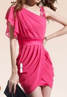 2014  sexy hip package slim Chiffon Dress