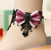 Elegant Gothic retro butterfly flower ladies lace anklets anklet swholesale new design in July 2013
