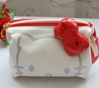 free shipping hello kitty bag cartoon zipper cosmetic bag cases1 piece purse wallet clutch bag