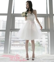 Fresh toast the bride wedding dress short paragraph  dress short solid color CP001