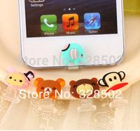 35pcs Cartoon Rilakkuma Sentimental Circus Home Button Sticker for Iphone 5 charge Plug DIY Phone Accessories Free shipping