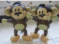 10pcs/lot  free shipping 2014 new design fahion inflatable mini monkey children toy wholesale