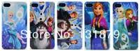 Wholesale 100pcs/lot Princess Reindeer Snowman Frozen Case for iPhone 4 4S 5 5S Free Shipping