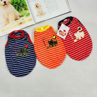 Pet dog clothes stripe t-shirt lovers design dog clothes schnauzer teddy spring