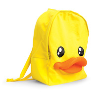 Semkb . small duck ages cartoon school bag duck 3d backpack solid color canvas female backpack