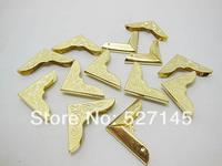 Free Shipping 200Pcs Golden Color Book Scrapbooking Albums Corner Protectors 30x30mm