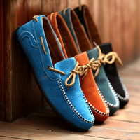 2014 Spring Moccasins casual shoes Men's PU Suede Genuine Leather Casual Driving Shoes Moccasins Slip On, free shipping