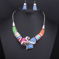 2014 fashion Jewelry Sets resin stone choker statement necklaces evening dress bride jewelry for women 2 colors, Free shipping