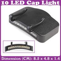 Fishing 10 LED Cap Light Lamp Emergency Light Headlamp Headlight 2pcs/Lot