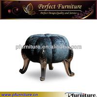 Pumpkin style home ottoman,home stool PFC8622