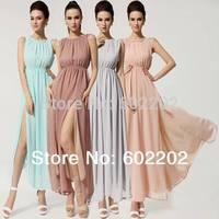 New 2014 Summer Women's Fashion Sexy Elegant Maxi Long Bohemian Evening Chiffon Elegant Backless casual Dress S-XL