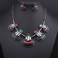 High quality Jewelry Sets choker statement necklaces 2014 fashion dress party bride necklaces earrings for women, Free shipping