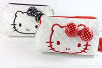 Pink Cartoon Cosmetic Bag Storage Make Up Bag Kids Children Gift Hello kitty Wallet Clutch Shoulder Bag Hand Bag