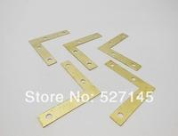 Free Shipping 100Pcs Angle Flat L Shaped Corner Brace Bracket 50mm x 50mm