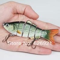 new 2014 Lifelike 6 Sections Fishing Lure 18g/10cm Swimbait Crankbait Hard Bait fishing hook Fishing Tackle fly tying baits
