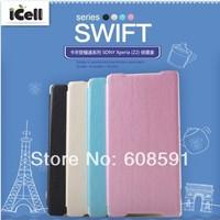 Original Kalaideng Swift series PU+Microfiber Flip Leather Case For Sony Xperia Z2 L50W ,with retail box MOQ:1PCS free shipping