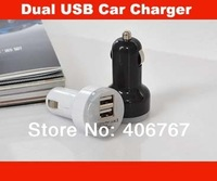 Wholesale Free Shipping Dual USB Car Charger For iPhone iPad Nipple Car Charger 200PCS/lot
