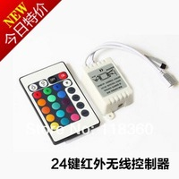 LED Strip Controller 24 Key IR Remote Control !! Free Shipping!!!