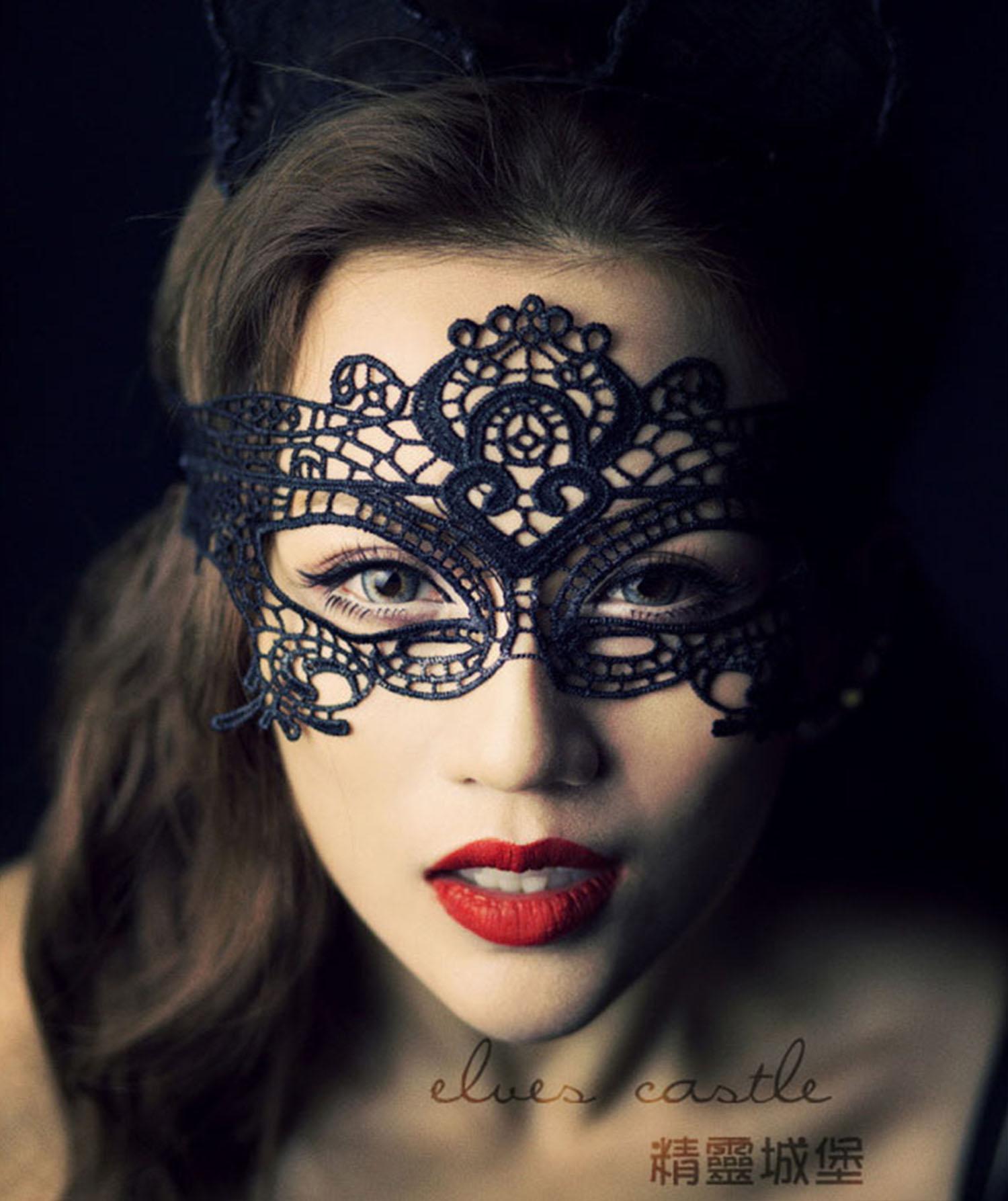 Эротические кружевные маски 18 фотография