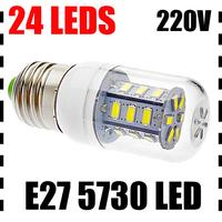 6PCS/LOT E27 5730 24/36 LEDs 7W/12W LED Bulb Lamp Spotlight Warm/Cold White AC220-240V 360 Degree CE/RoHS High Power