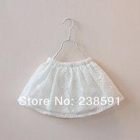 New 2014 spring and summer high quality children's white lace short skirt girls child baby hot sale waist skirt half-length