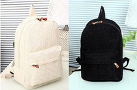 2014 Fashion Lace Women's Backpack Lovely Canvas Female's Backpack Casual Student School Bags White Black
