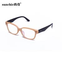 Wood glasses frame wood-framed eyeglasses frame radiation-resistant vintage rivet plain mirror goggles