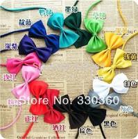 Hot New 50pcs/lot MultiColor Dog Neck Tie Doggy Bow Tie Pet Grooming Headdress Bowtie Necktie Pet Supplier