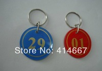 DHL FREE SHIPPING - 200pcs/lot , KEY ring /key holder with number