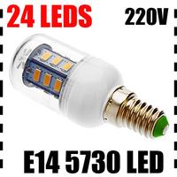 4X Ultra Bright E14 7W 12W 5730 24/36pcs Leds chips AC220-240V Led Corn bulb Lamp Spotlight Warm/Cool White CE/RoHS 360 Degree