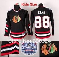 Youth Chicago Blackhawks #88 Patrick Kane Black Jersey 2014 Stadium Series Kids Ice Hockey Jerseys