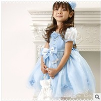 Free Shipping! 2014 Summer New girls dress,bow princess dress,kids noble fairy dress high quality