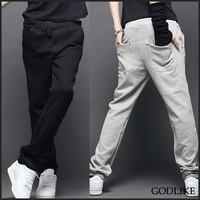 2014 New Arrival Sale Cotton Movement Youth Conventional Trousers Men Pants Male Sports Pants Trousers Health Slim Men's Harem