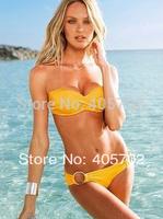 2014 Fashion Sexy With Cup Swimwear Swimsuit Shoulder Strap Bikini Women Sexy Swim Wear Biquin