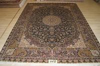 Shag Blue Rug For Home Handmade Rug Silk Persian Rug And Carpet For Living Room Carpet For Children Bedroom 9x12 On Sale!