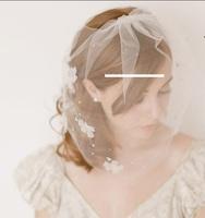 The bride veil headdress wedding dress ornaments studded pyrograph veil
