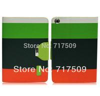 Fedex free shipping 100pcs/lot Hybrid Color Magnetic Wallet PU Leather Smart Cover Case for iPad mini  and IPAD MINI 2 Retina