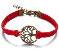 Hot Sale European style  simple handmade bracelet alloy Hope Tree bracelets jewelry wholesale Mix Color YH-8 Free Shipping
