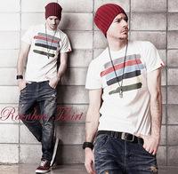 2014 spring male summer t-shirt fashion plus size short-sleeve men's clothing T-shirt short-sleeve t-shirt white short-sleeve