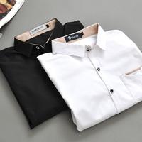 Spring male 100% cotton long-sleeve shirt casual shirt slim men's clothing exquisite fashion brief fashion