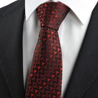 New Red Black Arrow Pattern Unique Men's Tie Necktie Wedding Holiday Gift         314
